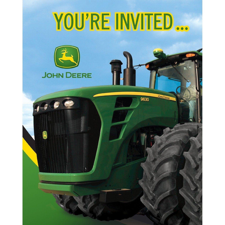 Amazon: John Deere Birthday Party Invitations, 8 Count: Toys - Free Printable John Deere Birthday Invitations