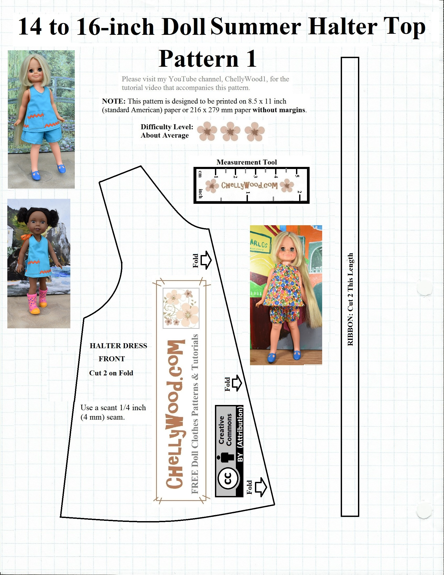 American_Girl Or 18-Inch #dolls #summer Top #diy W/free #patterns - Free Printable Doll Clothes Patterns For 18 Inch Dolls