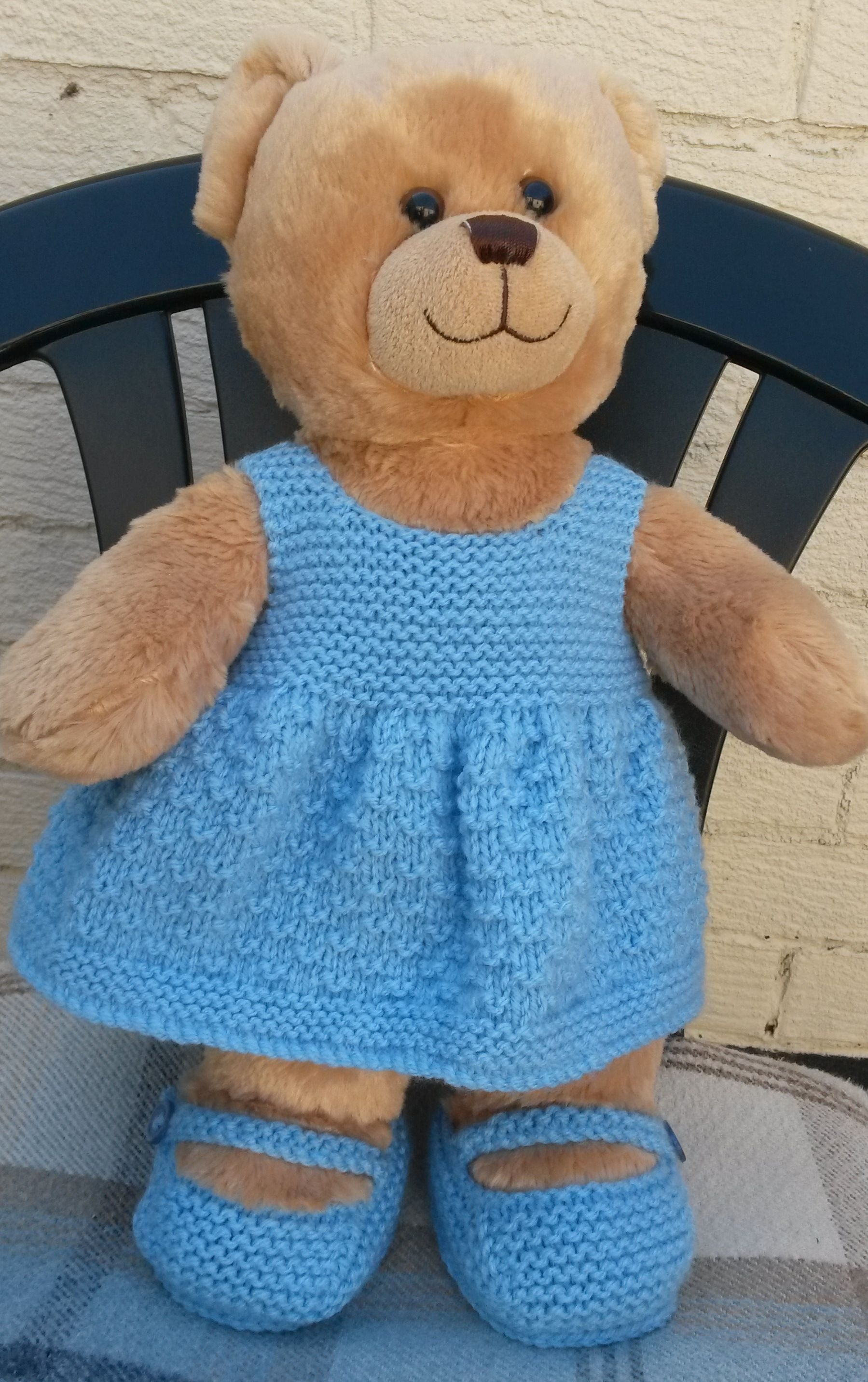 An Easy Free Pattern And Shoes Ideal For Build A Bears   Crochet - Free Printable Teddy Bear Clothes Patterns