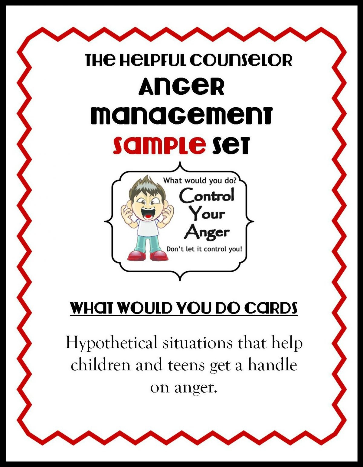 Anger Management Free Printable: Problem Solving - The Helpful Counselor - Free Printable Anger Management Activities