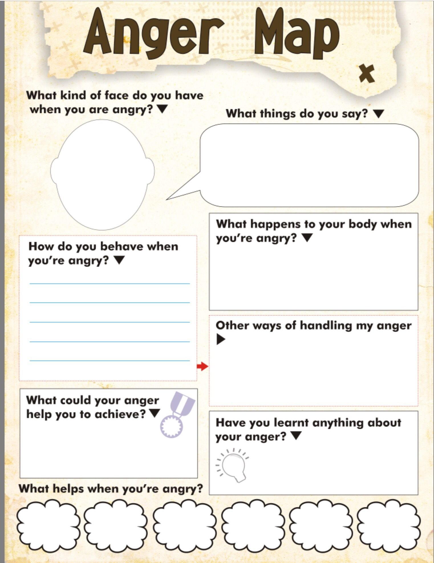 photo relating to Anger Management Printable Worksheets titled Cost-free Printable Anger Manage Functions No cost Printable