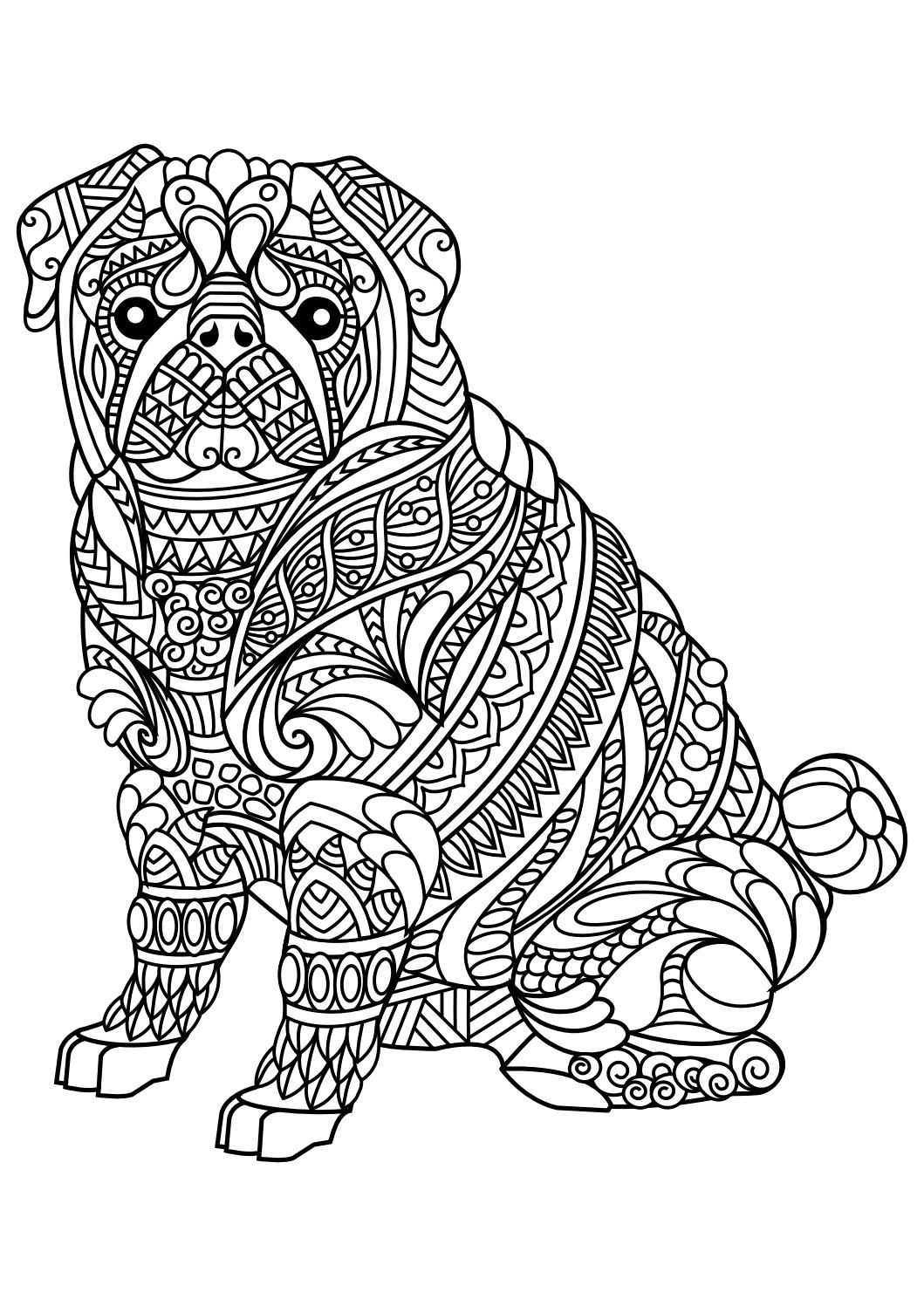 Animal Coloring Pages Pdf   Coloring - Animals   Dog Coloring Page - Free Printable Animal Coloring Pages
