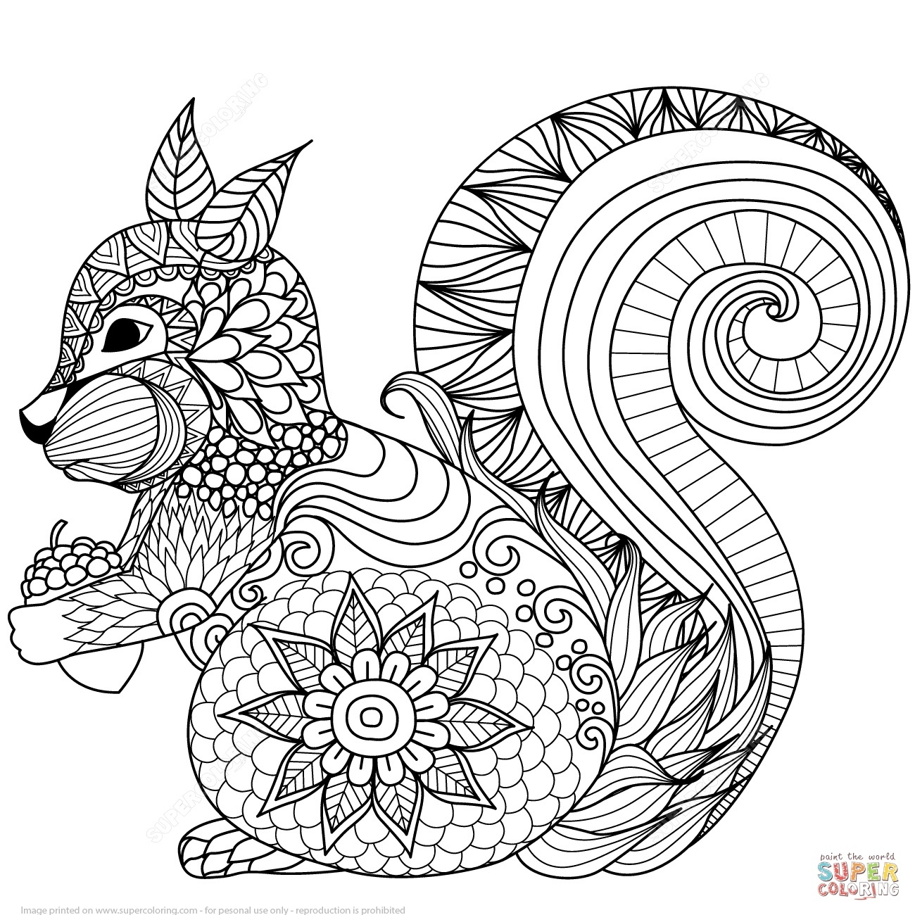 Animal Coloring Pages - Zentangle Animal Coloring Pages At - Free Printable Animal Coloring Pages