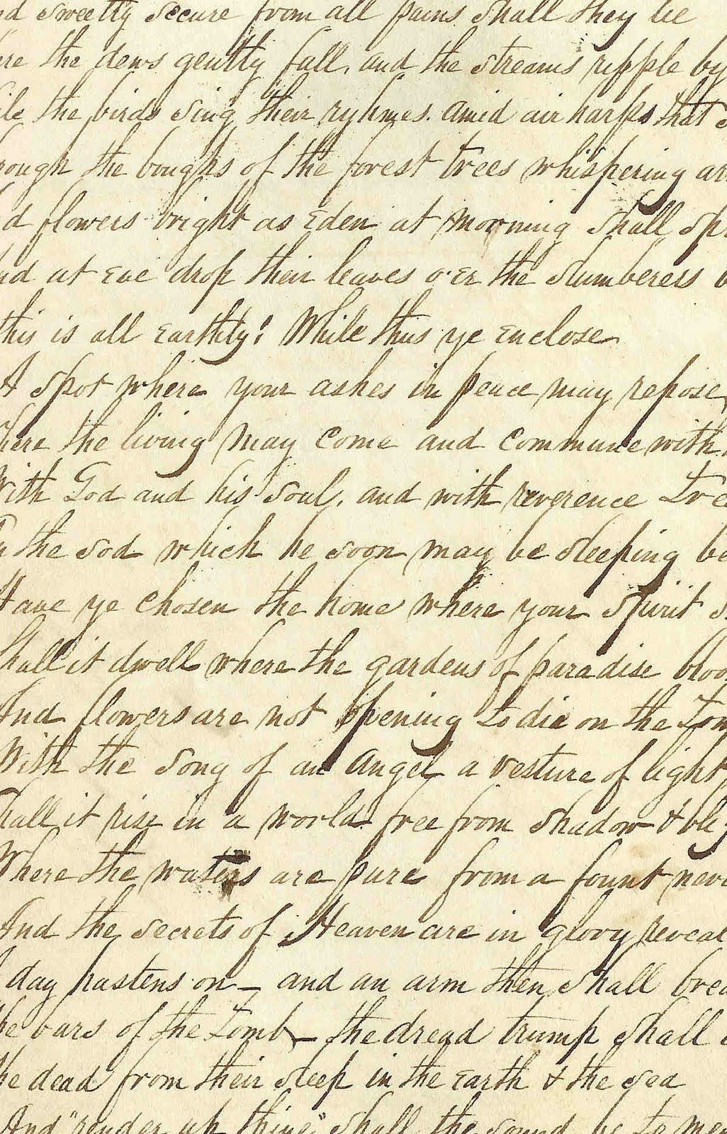 Antique Images: Free Background Paper: Handwritten Page From Journal - Free Printable Background Pages