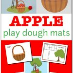 Apple Play Dough Mats For Fine Motor Play {Free Printable}   Gift Of   Free Printable Playdough Mats