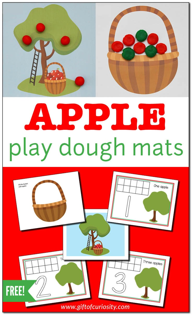 Apple Play Dough Mats For Fine Motor Play {Free Printable} - Gift Of - Free Printable Playdough Mats