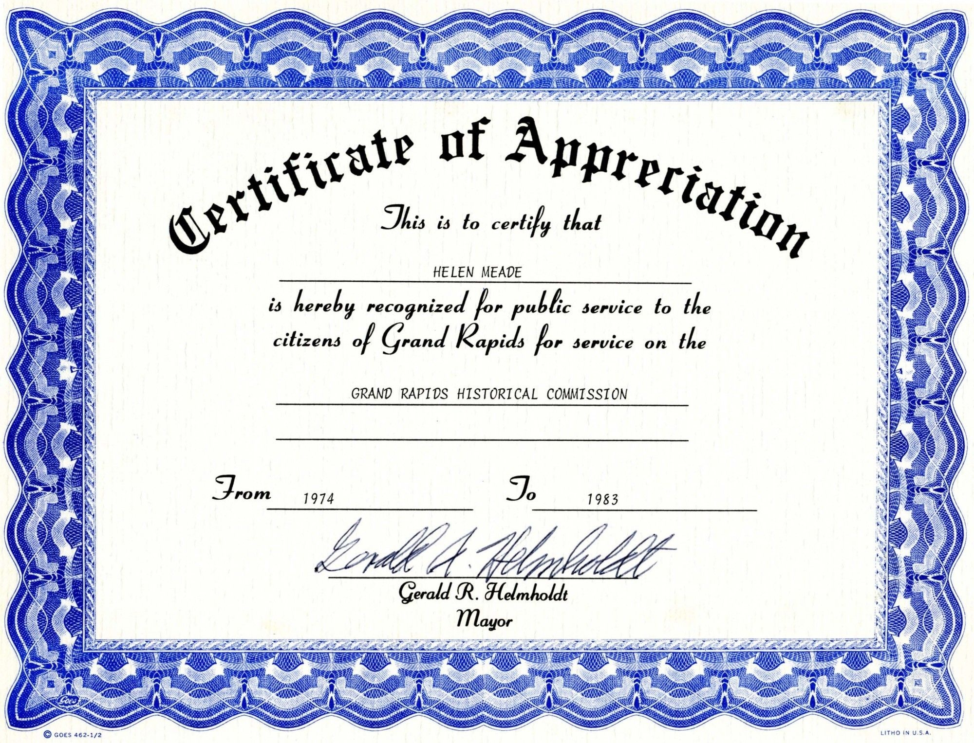 Appreciation Certificate Template Free Download - Tutlin.psstech.co - Free Printable Templates For Certificates Of Recognition