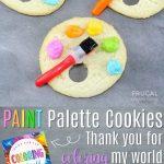 Artist Paint Palette Cookies Plus Bonus Printable Gift Tag | Recipe   Free Printable Paint Palette