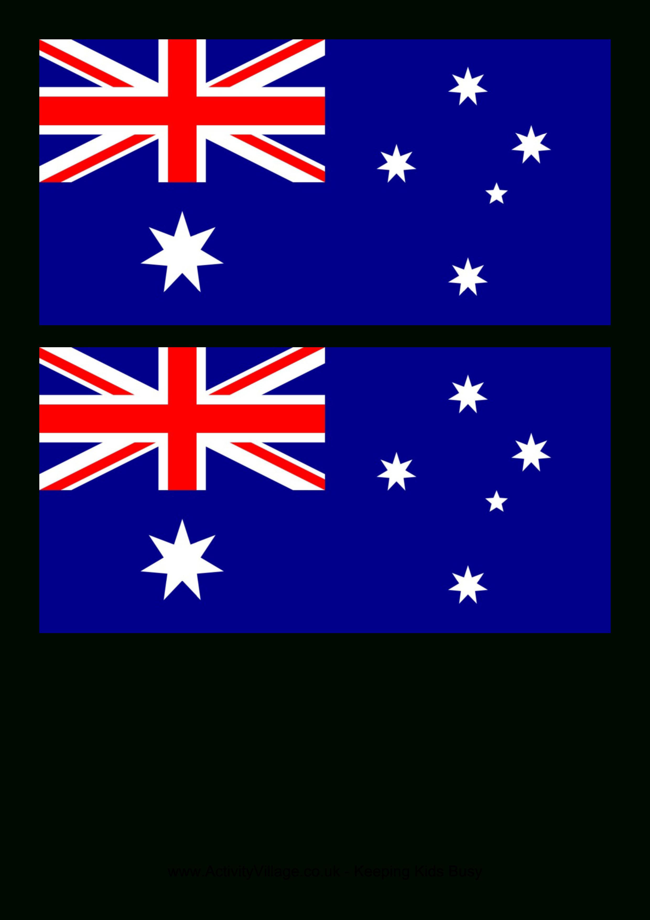 Australia Flag - Free Printable Australia Flag | Preschool Alphabet - Free Printable Murals