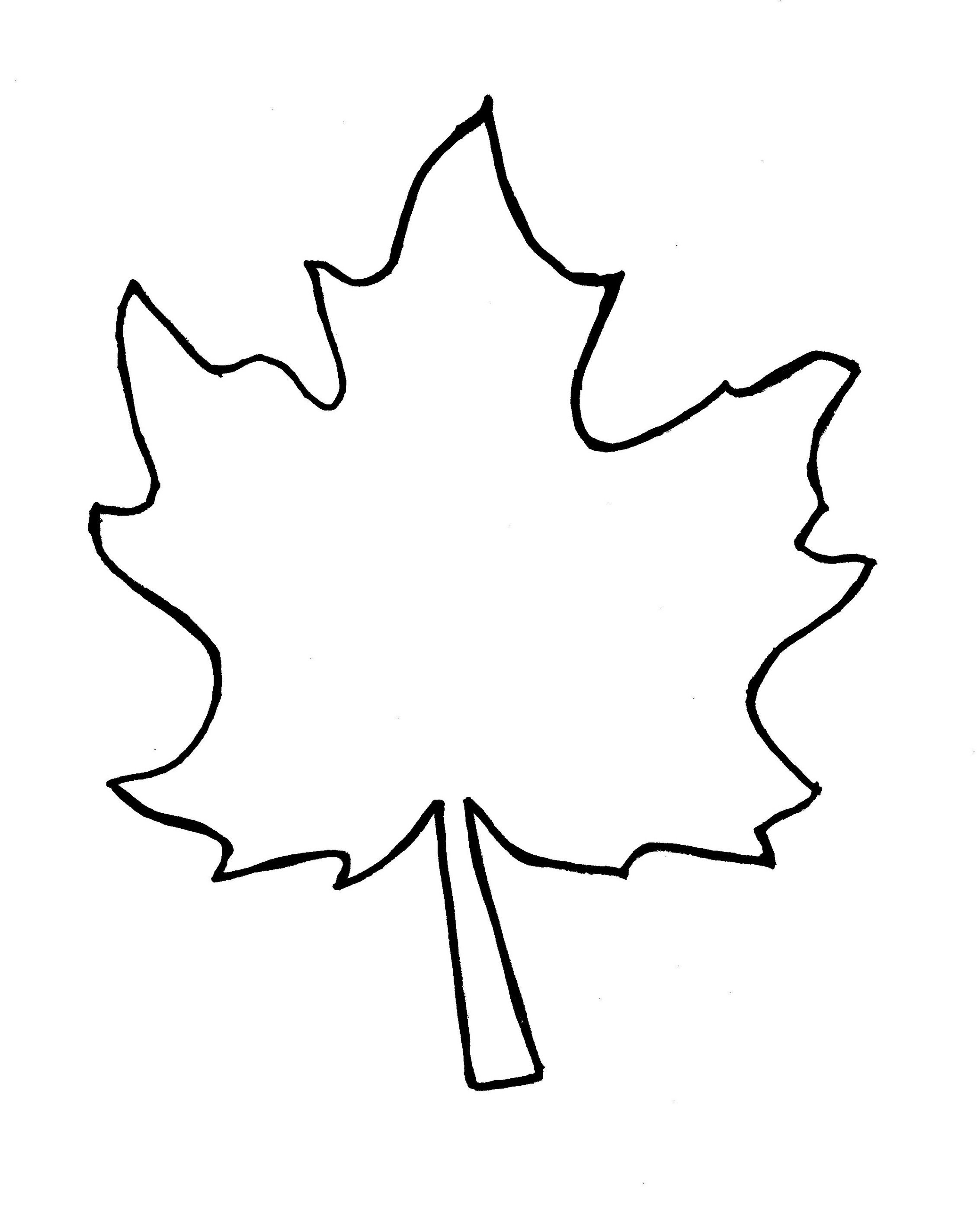 Autumn Leaf Outline Template Clipart Free To Use Clip Art Resource 2 - Free Printable Pictures Of Autumn Leaves