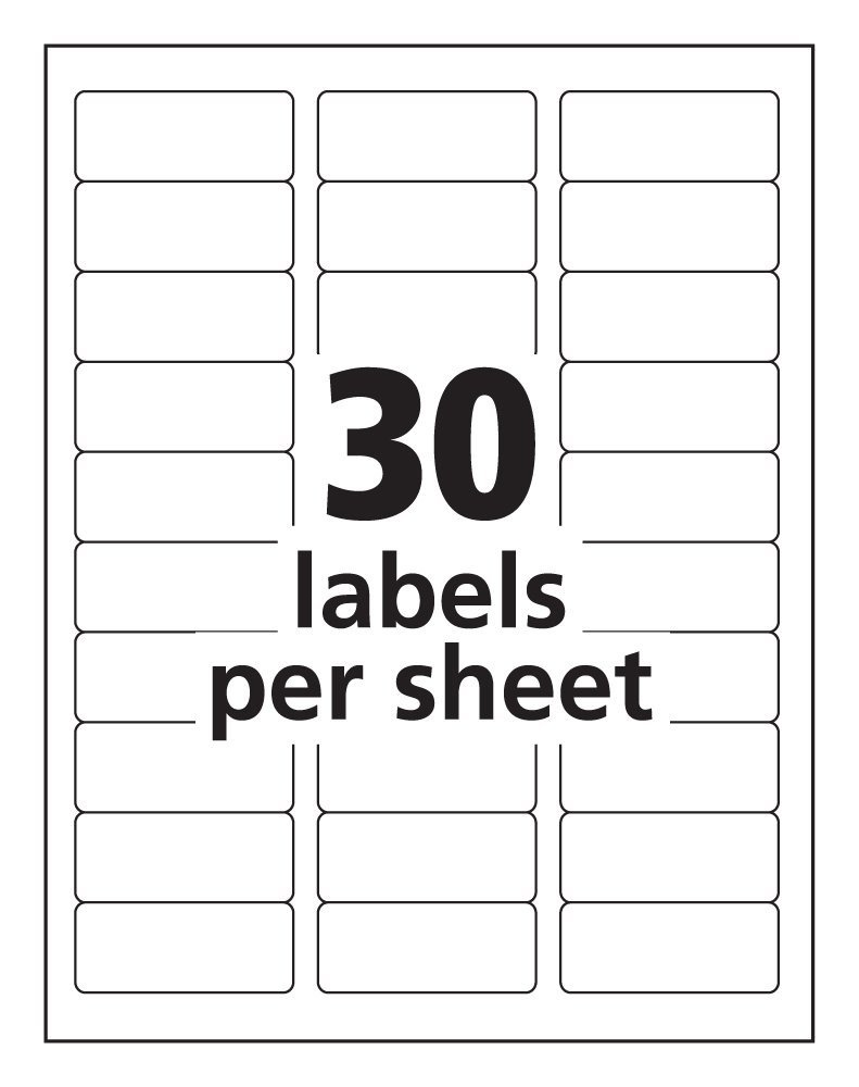 Avery Address Labels 30 Per Page - Tutlin.psstech.co - Free Printable Christmas Address Labels Avery 5160