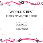 Award Certificate Template … | Shannon Early | Free …   Free Printable Best Daughter Certificate