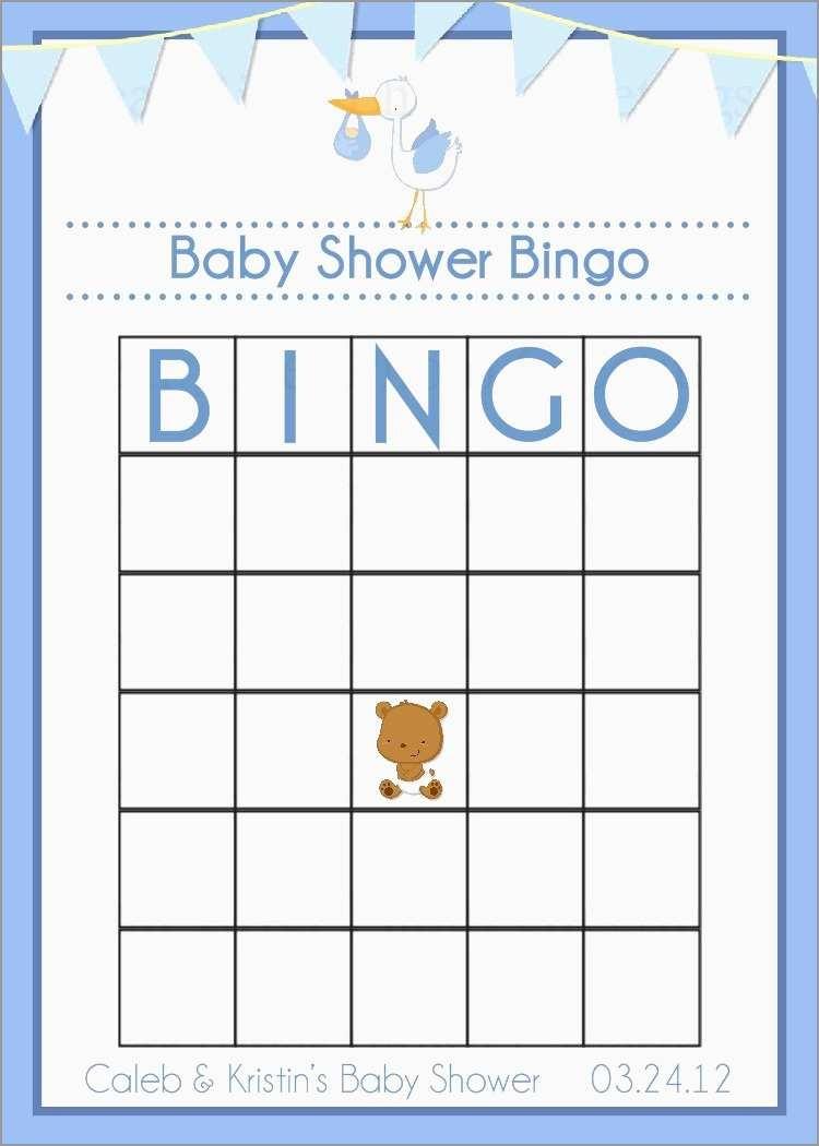 Awesome Free Baby Shower Bingo Blank Template | Best Of Template - Baby Bingo Free Printable Template