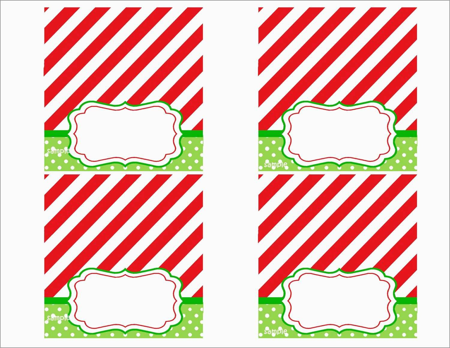 Awesome Free Printable Christmas Table Place Cards Template | Best - Free Printable Christmas Table Place Cards Template
