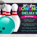 Awesome Free Template Free Printable Bowling Birthday Invitations   Free Printable Bowling Ball Template