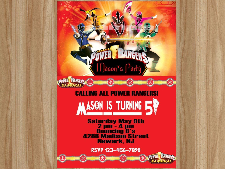 Awesome Power Ranger Birthday Invitations   Bagvania Invitation - Free Printable Power Ranger Birthday Invitations