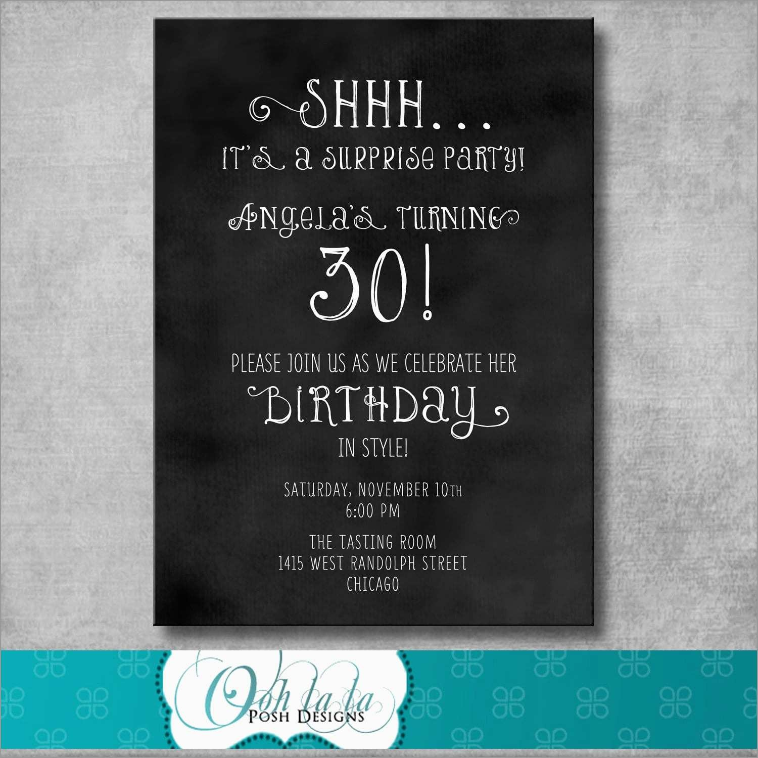 Awesome Surprise Invitation Templates Free | Best Of Template - Free Printable Surprise Party Invitation Templates