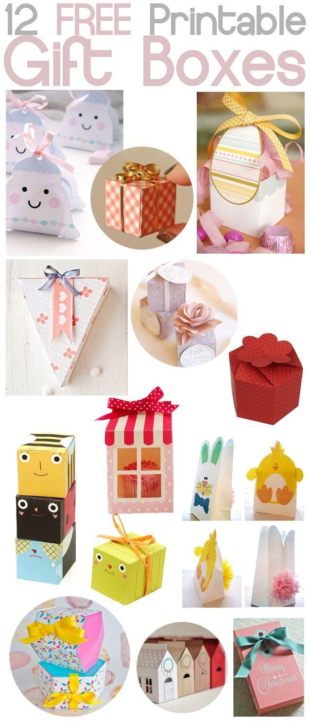 B E A N I P E T: Diy - Free Printable Gift Boxes | Wk | Cadeau's - Free Printable Gift Boxes