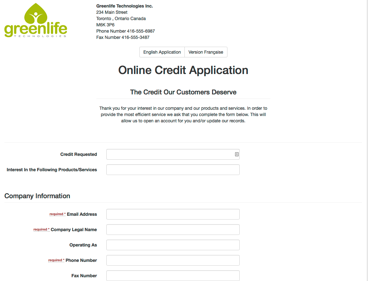 B2B Credit Chex Inc. - Credit Application, Credit Reporting - Free Printable Business Credit Application Form