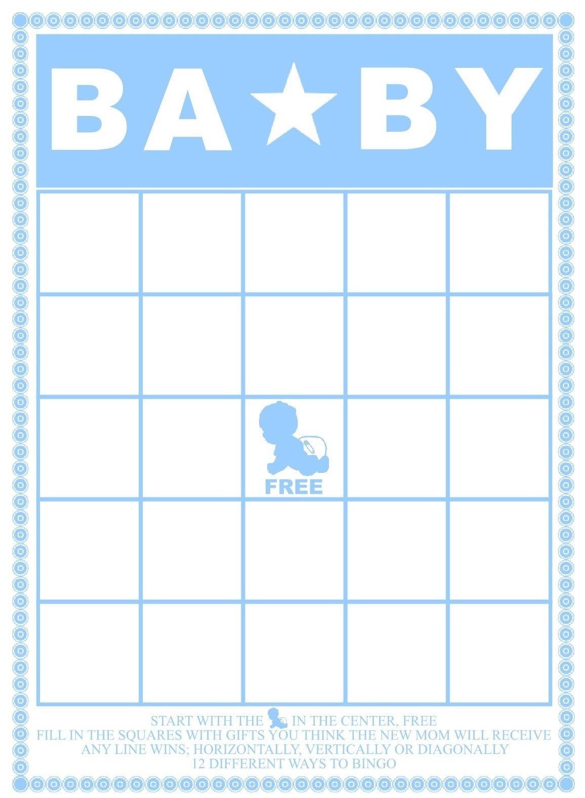 Baby Bingo Template - Kaza.psstech.co - Free Printable Baby Shower Bingo Cards Pdf