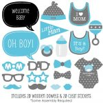 Baby Boy   Baby Shower Photo Booth Props Kit   20 Count | Clip Art   Free Printable Baby Shower Photo Booth Props