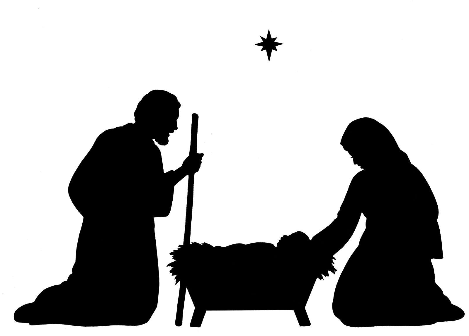Baby Jesus Silhouette | Nativity Silhouette Clip Art | + Black - Free Printable Nativity Silhouette