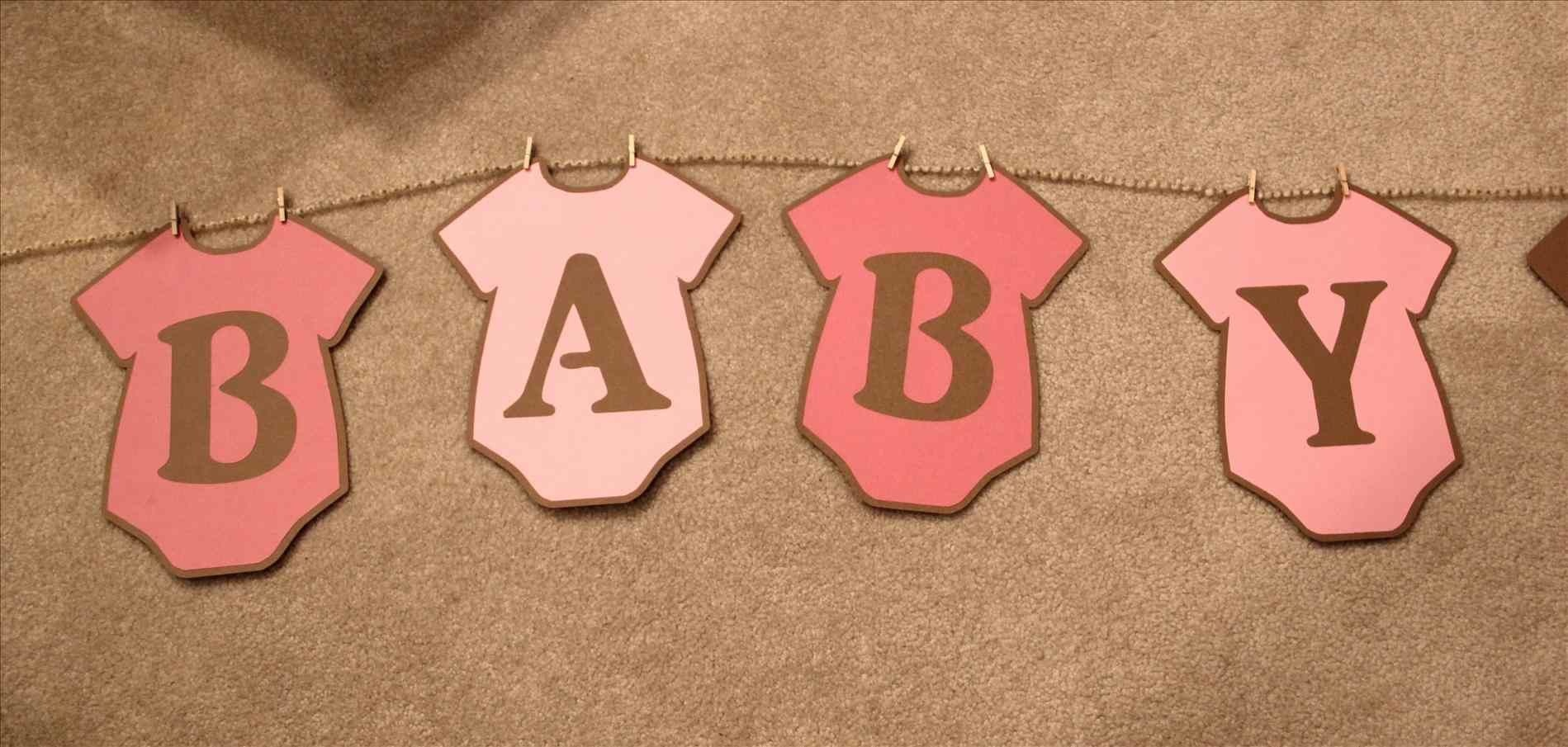 Baby Shower Banner Free Printable. Whole Alphabet Banner Pink Gold - Free Printable Baby Shower Banner Letters