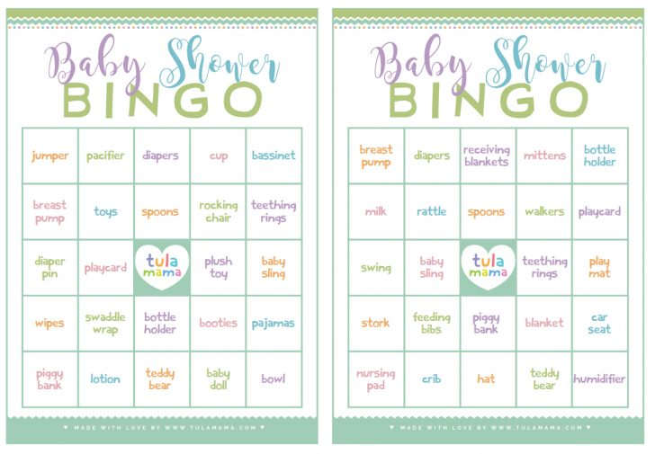 Baby Bingo Game Free Printable