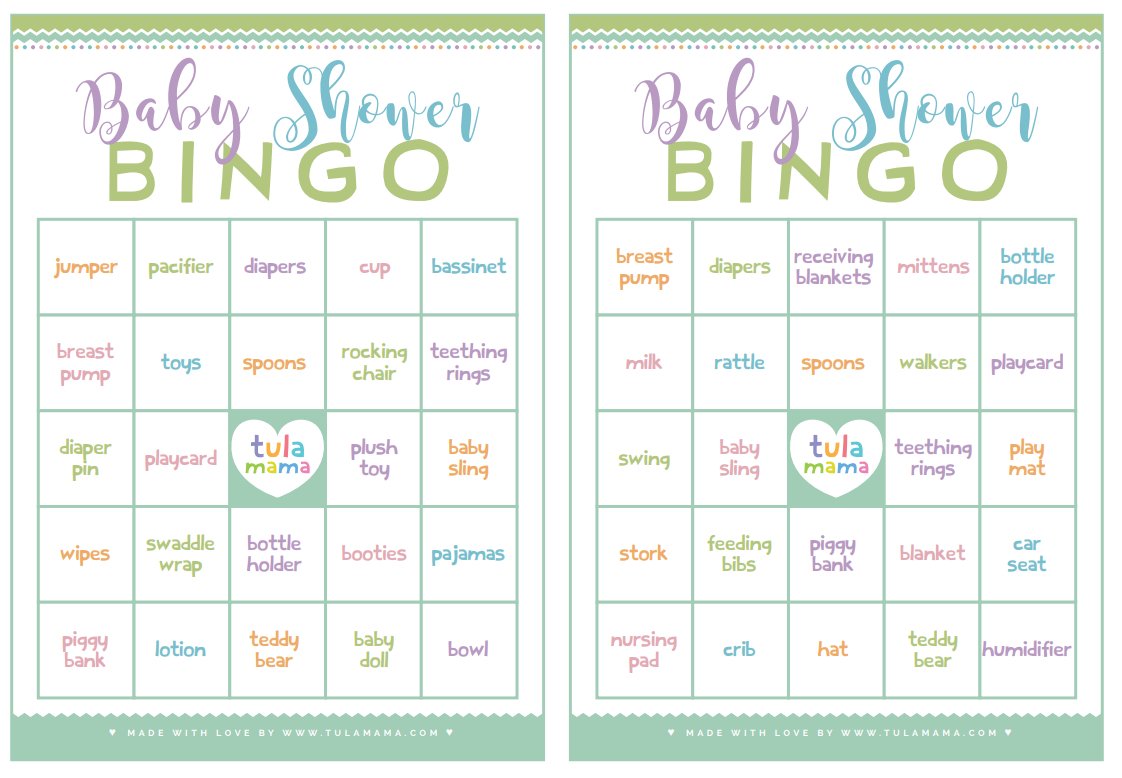Baby Shower Bingo - A Classic Baby Shower Game That's Super Easy To Plan - Free Printable Baby Shower Bingo Cards Pdf