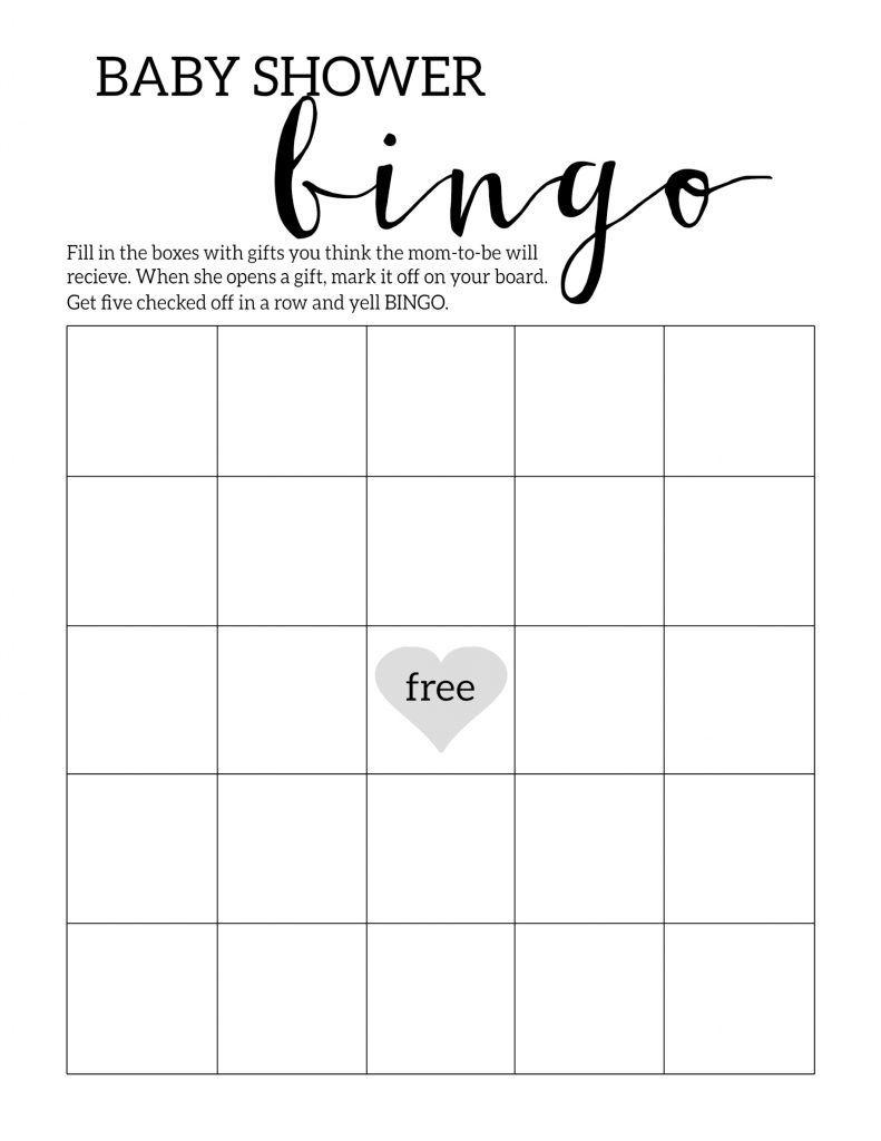Baby Shower Bingo Printable Cards Template | Baby Shower Ideas - Baby Bingo Free Printable