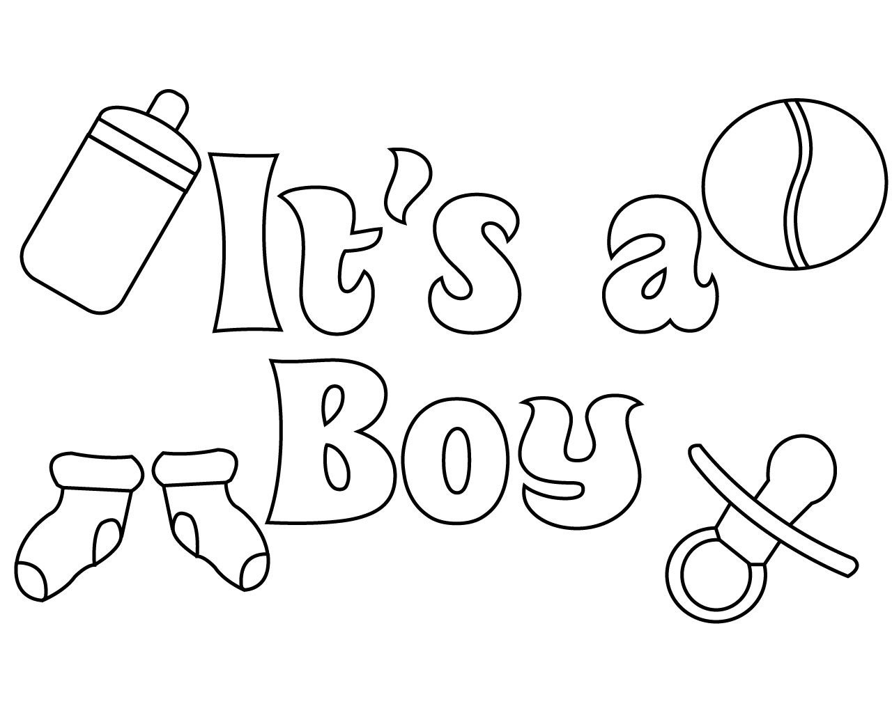 Baby Shower Coloring Pages For Boy | Careersplay | Baby Shower - Free Printable Baby Shower Coloring Pages