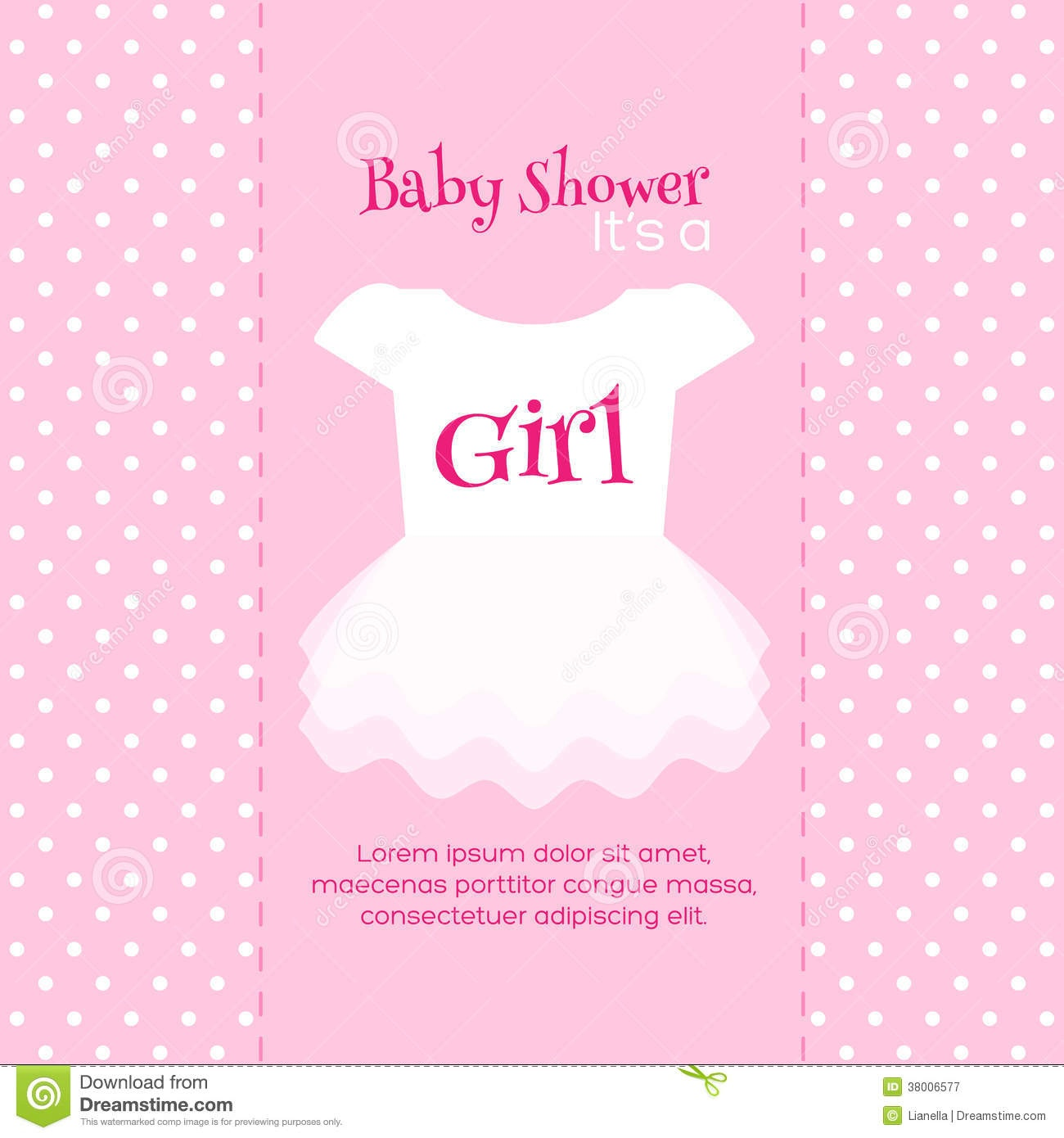 Baby Shower Invitation Template Stock Vector - Illustration Of - Free Printable Baby Shower Cards Templates