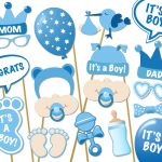 Baby Shower Photo Props It's A Boy Photo Booth Props | Etsy   Free Printable Boy Baby Shower Photo Booth Props