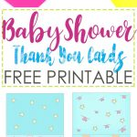 Baby Shower Thank You Cards Free Printable   Free Printable Baby Shower Thank You Cards