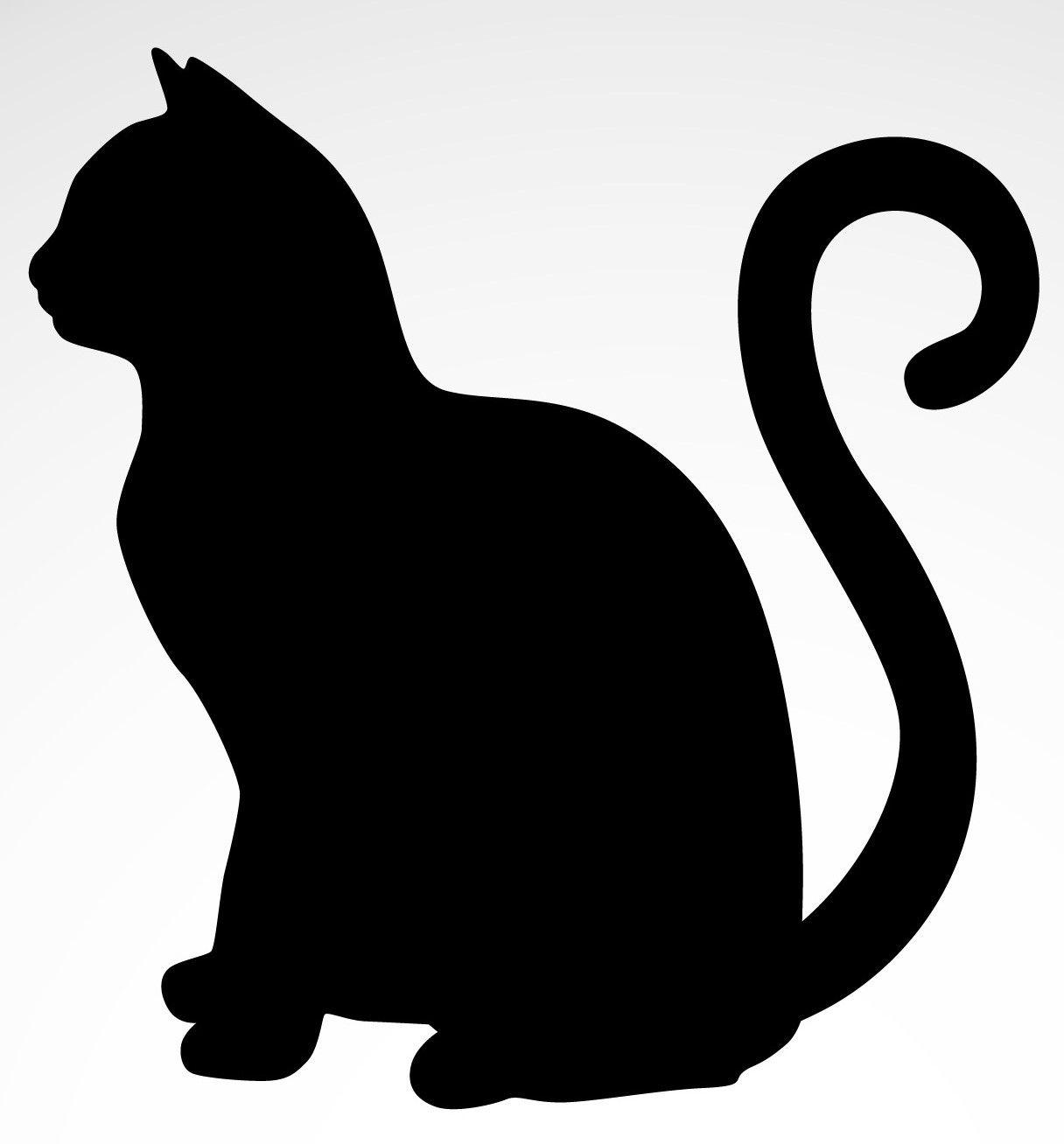 Back Cat Silhouette | Glass Ornament Silhouette | Cat Silhouette - Free Printable Cat Silhouette