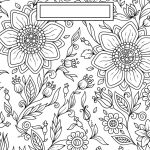 Back To School Binder Cover Adult Coloring Pages | Craft Ideas   Free Printable Binder Covers To Color