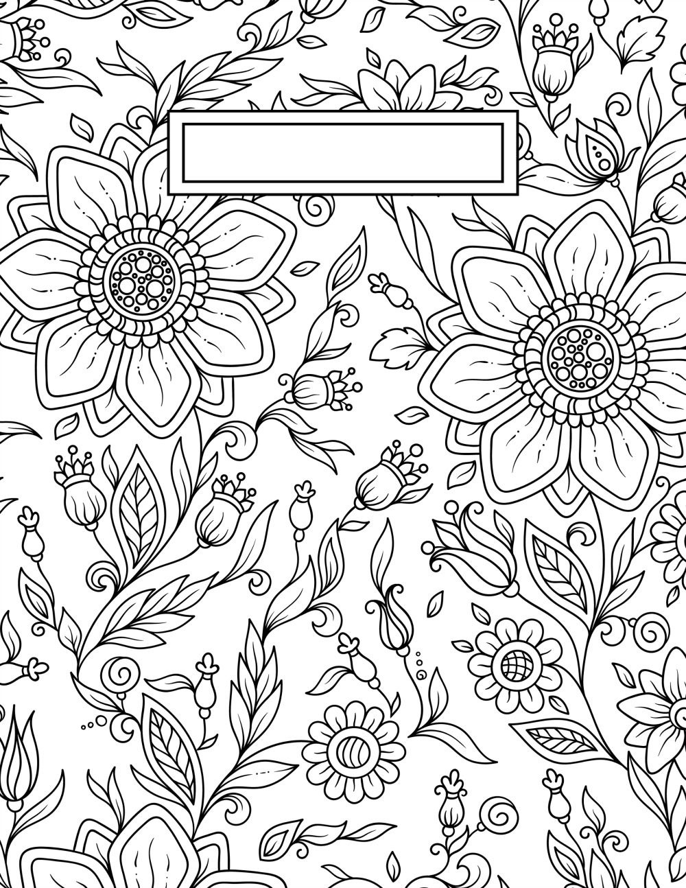 Back To School Binder Cover Adult Coloring Pages | Craft Ideas - Free Printable Binder Covers To Color
