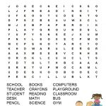 Back To School Word Search Free Printable | Back To School | Back To   2Nd Grade Word Search Free Printable