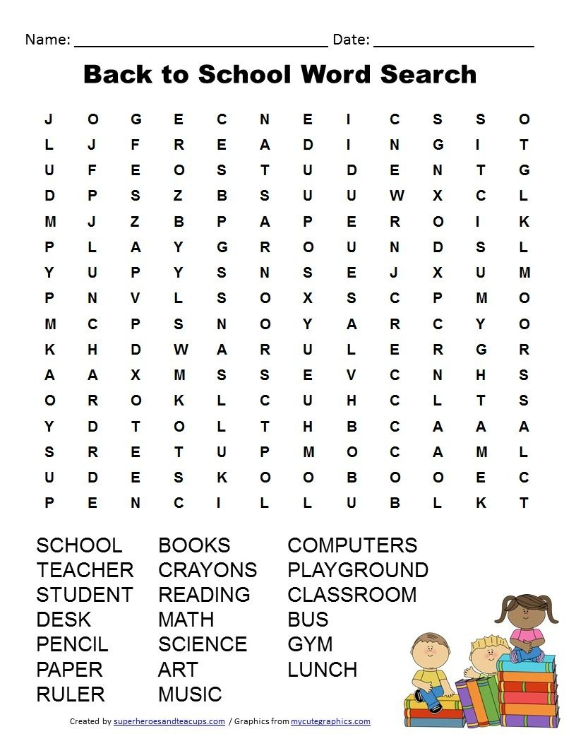 Back To School Word Search Free Printable | Back To School | Back To - 2Nd Grade Word Search Free Printable
