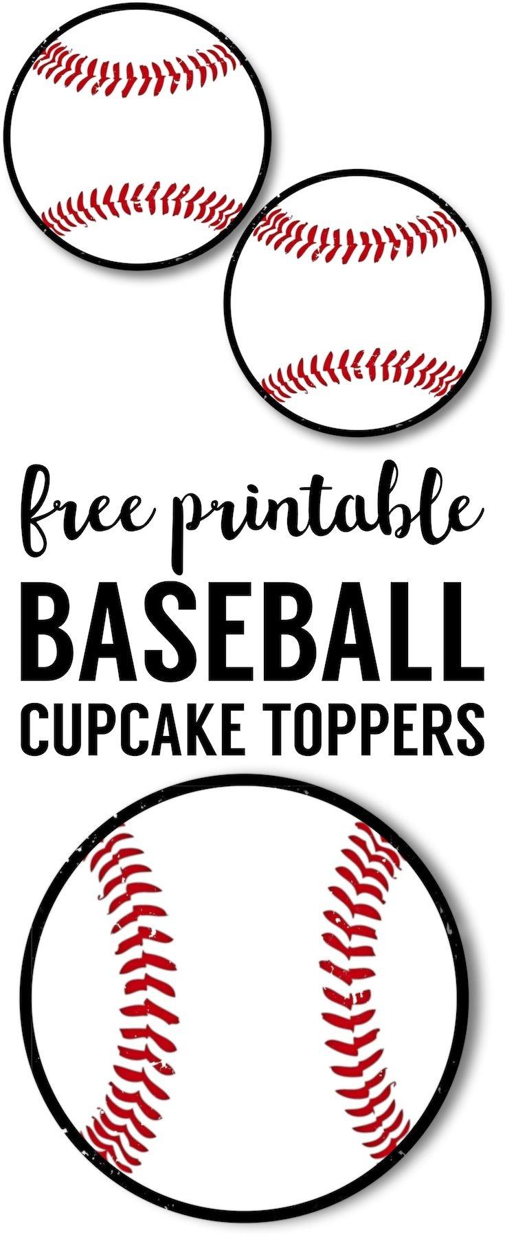 Baseball Cupcake Toppers Free Printable   Parties   Baseball - Free Printable Baseball Favor Tags