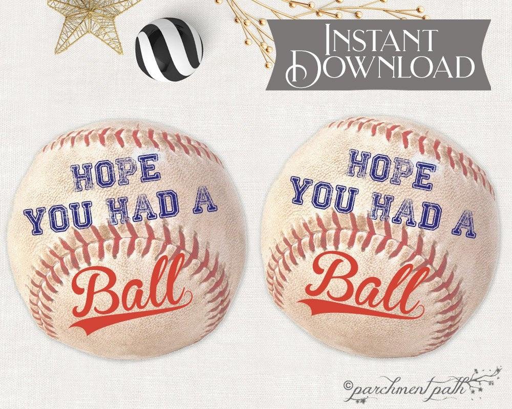 Baseball Favor Tags Baseball Stickers Baseball Printable   Etsy - Free Printable Baseball Favor Tags
