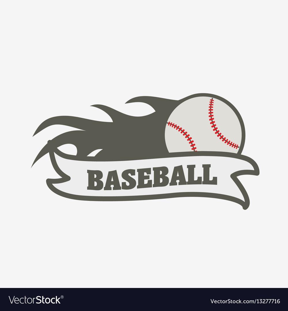 Baseball Logo Badge Or Label Design Template Vector Image - Free Printable Baseball Logos