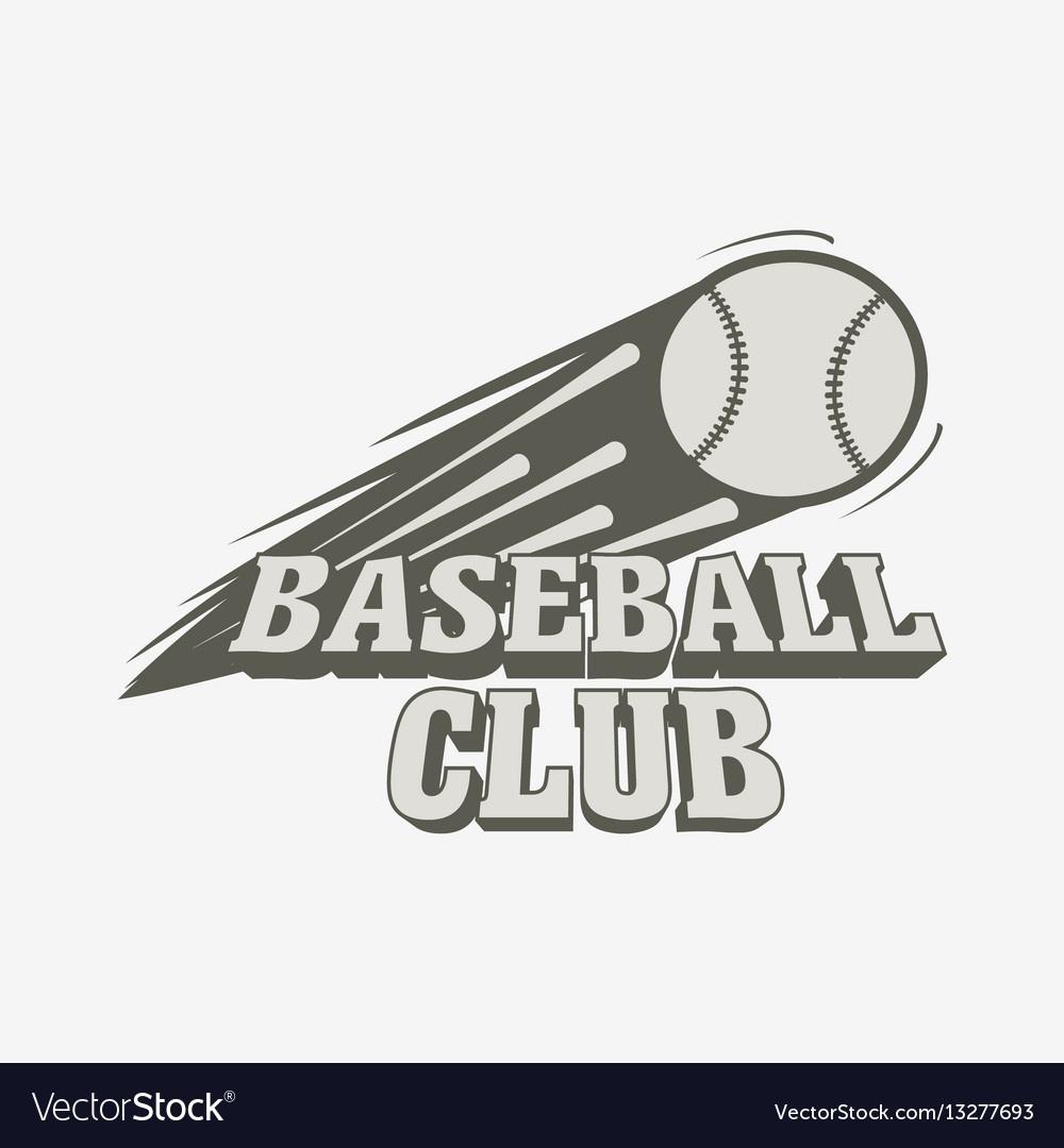 Baseball Logo Badge Or Label Template Baseball Vector Image - Free Printable Baseball Logos