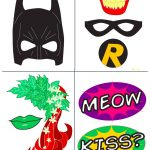 Batman Party With Free Photobooth Mask + Prop Printables | Birthday   Free Printable Superhero Photo Booth Props