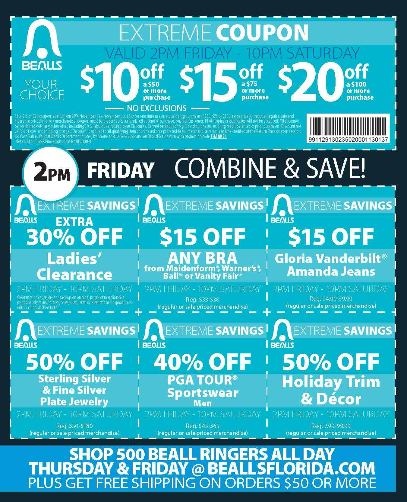 Bealls Of Florida Coupons - Online Coupons - Free Printable Bealls Florida Coupon