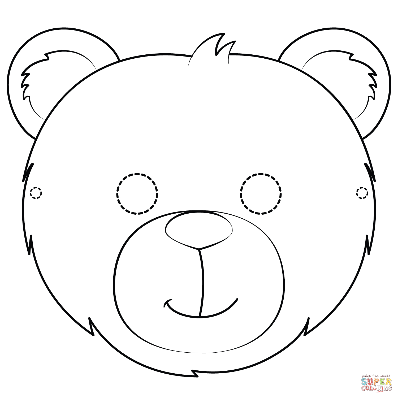Bear Mask Coloring Page   Free Printable Coloring Pages - Free Printable Bear Mask