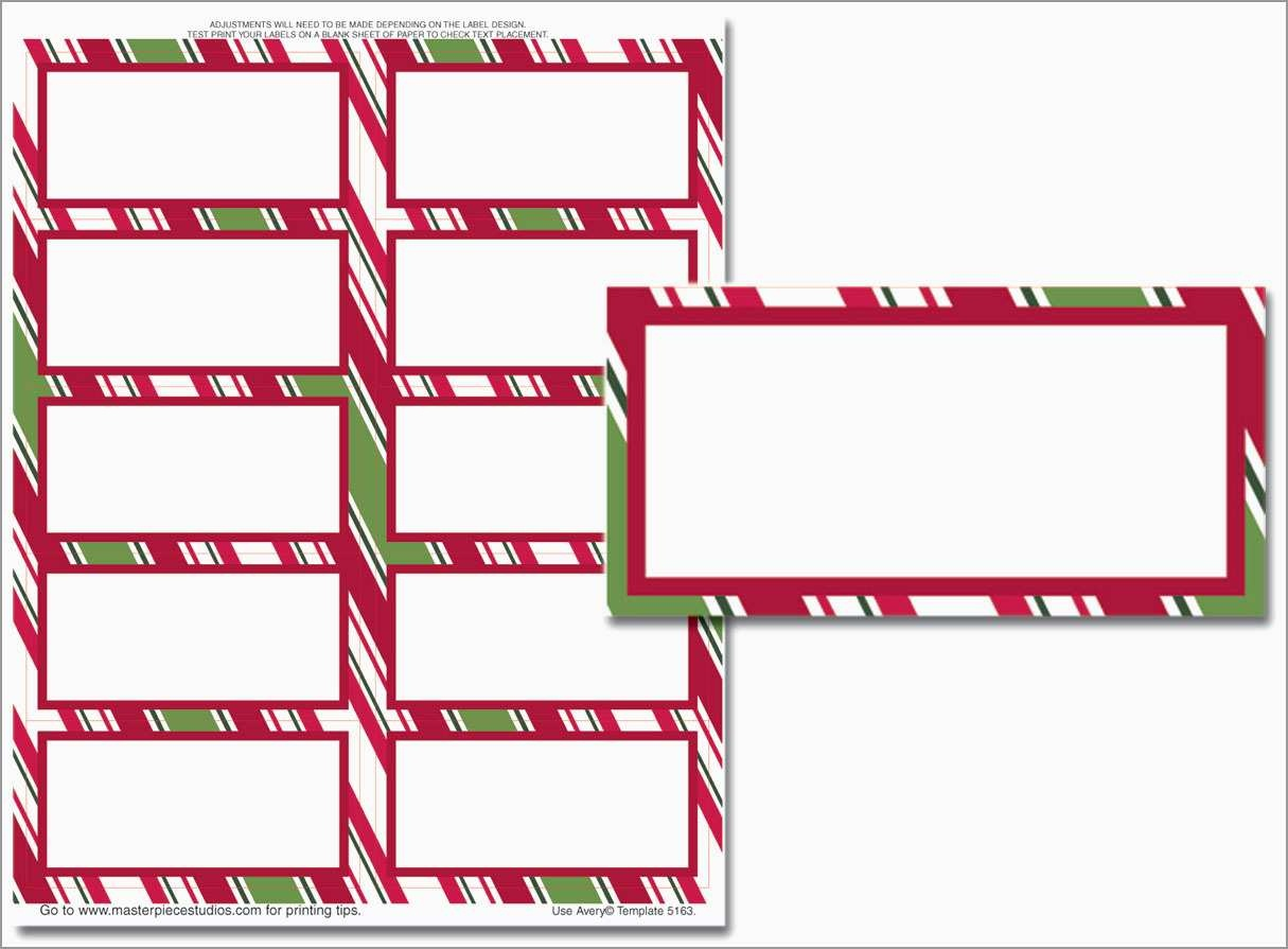 Beautiful Christmas Address Labels Free Templates | Best Of Template - Free Printable Labels Avery 5160