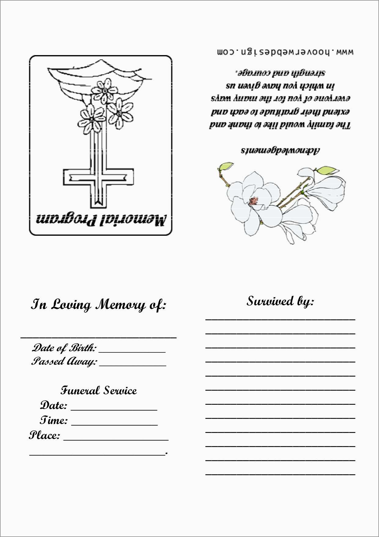 Beautiful Free Memorial Card Template   Best Of Template - Free Printable Memorial Card Template