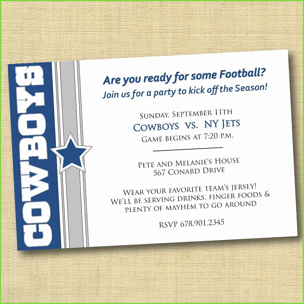 Beautiful Pics Of Dallas Cowboys Party Decorations   Starcash.co - Free Printable Dallas Cowboys Birthday Invitations