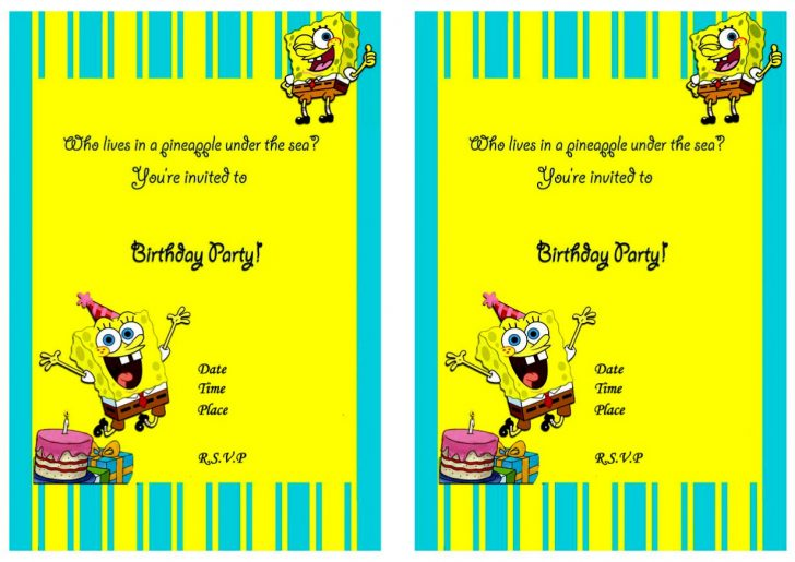 Spongebob Free Printable Invitations